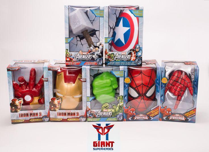 Cuisine U0026 Maison Marvel 3D Deco Light Avengers Iron Man Mask Helmet And  Repulsor Hand Deluxe ...