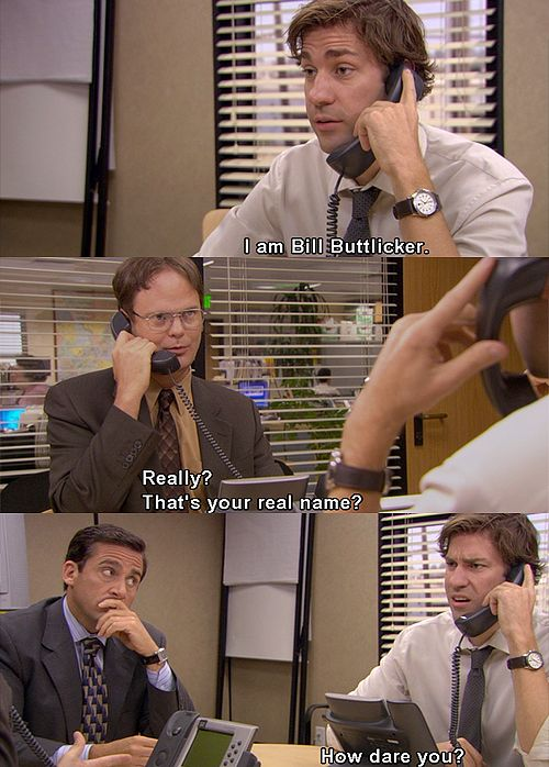 Jim and Dwight! XD (S5: Customer Reviews) One of the greatest scenes in Office h