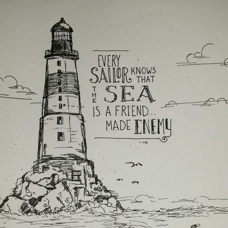 Lighthouse Storm Tattoo Ideas