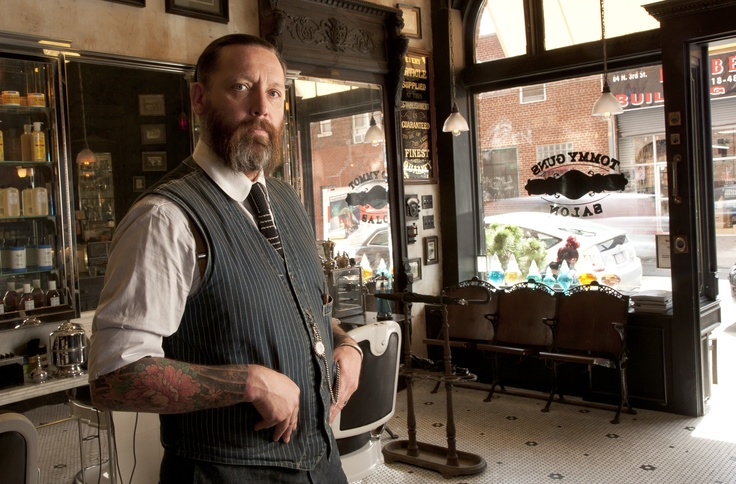 Russell Manley at the Brooklyn Tommy Guns Salon as seen in