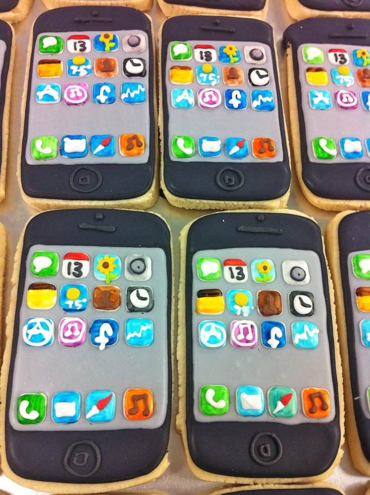 iPhone Cookies! HayleyCakes and Cookies Brought to you by
