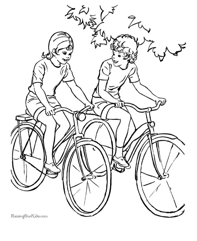 coloring pages coloring and bikes on pinterest