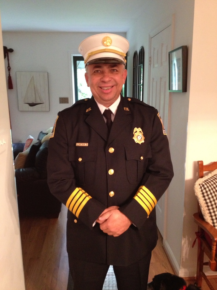 Handsome seasoned fire marshal! Got to love a guy in