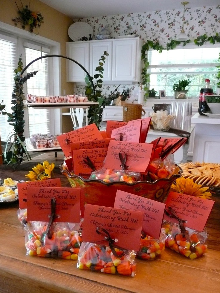 Fall Bridal Shower Candy Corn Favors Bridal shower