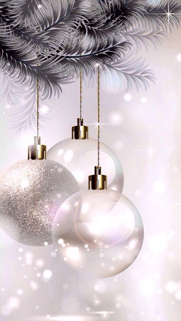 17 Best images about Wallpaper on Pinterest   Sparkle  Iphone 5     Pearl  Silver Ornaments   White Christmas