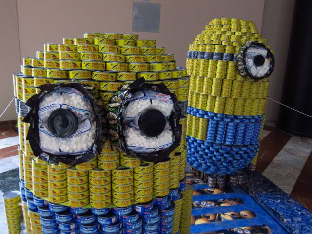 28 Best Images About Canned Food Sculptures On Pinterest