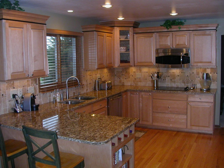 Remodeled Kitchen In Natural Maple Cabinets