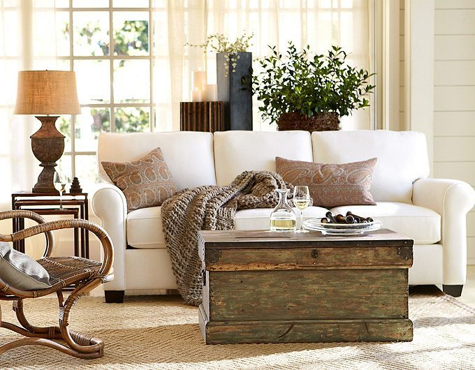 Trunk For Coffee Table-good Idea. Living Room Ideas