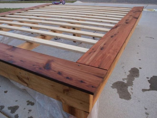 King size platform frame do it yourself home projects