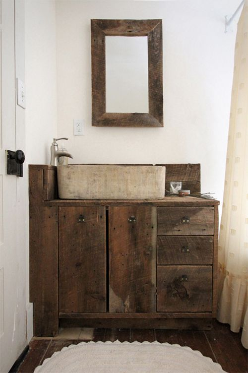 17 Best Images About Reclaimed Wood Vanities On Pinterest