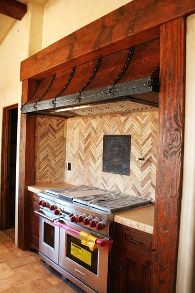 Hammered Copper And Forged Iron Range Hood Blacksmith
