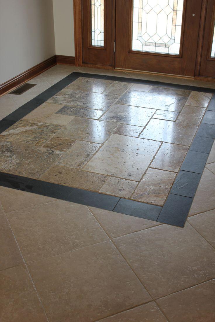 custom entryway tile design. Kitchen Design Pinterest