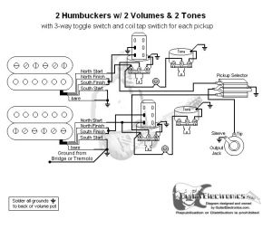 Guitar Wiring Diagram 2 Humbuckers3Way Toggle Switch2
