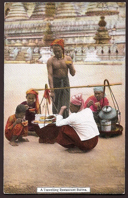 Burma Myanmar Vintage Ethnic Postcard Burmese Traveling