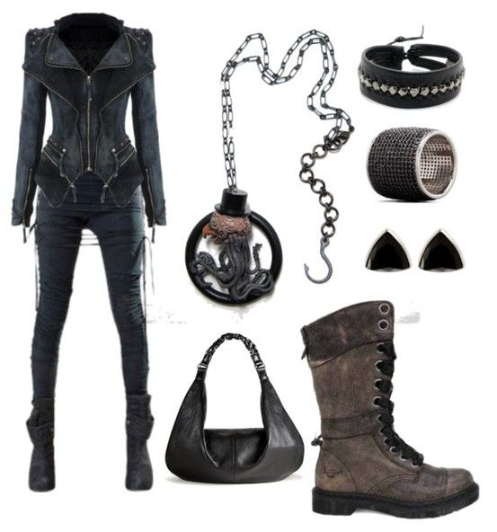Post Apocalyptic Punk (Grell Monster Necklace by Mortivoreium, Dungeons & Dragons Inspired Art