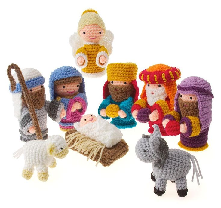 Looking for a crocheting pattern for your next project? Look no further than Amigurumi Nativity from c. christmas! – via @Craftsy