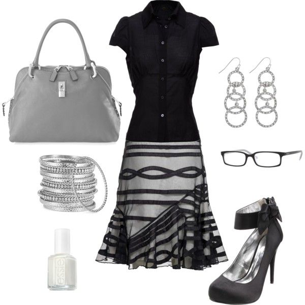Black and Silver – great work outfit