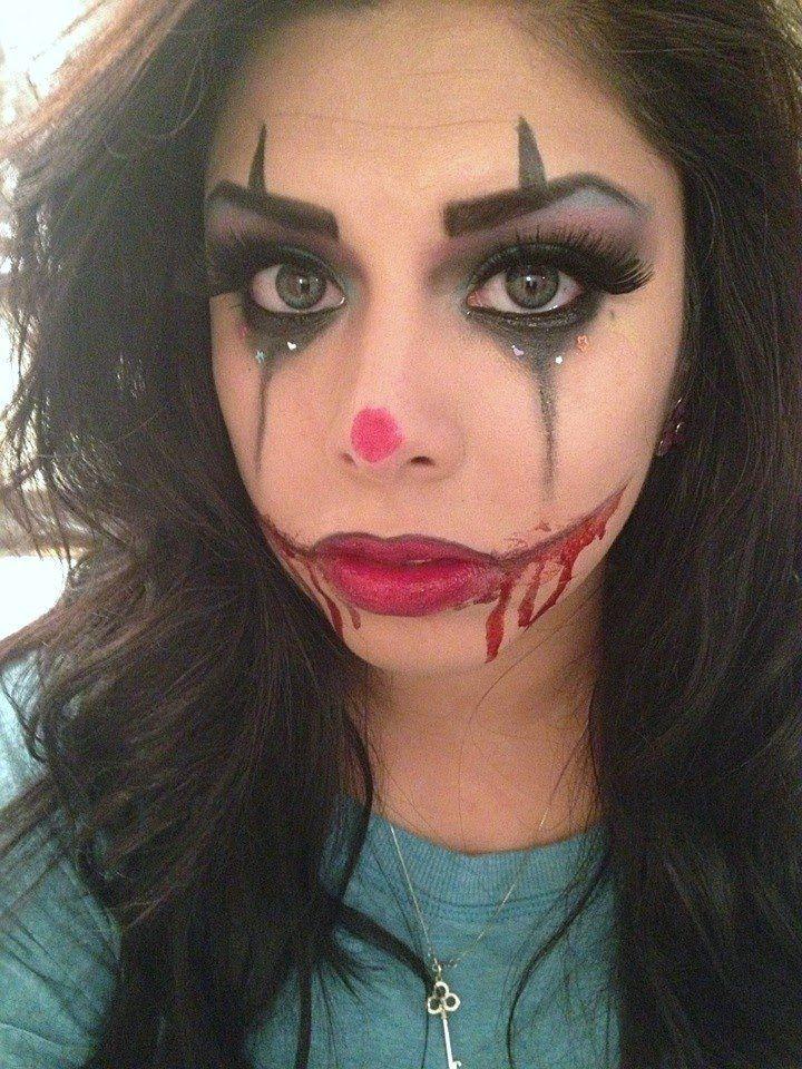 Sexy/Scary Clown Makeup Makeup Tricks Pinterest