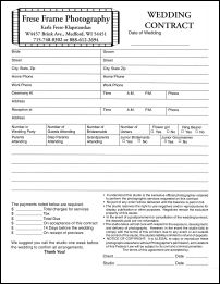 Free Photography Contract Template. wedding photography contract ...