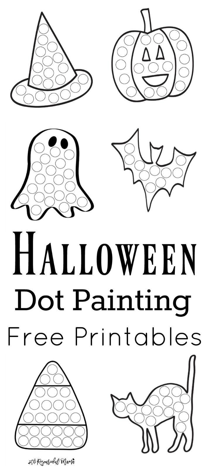 Halloween Dot Painting {Free Printables Activities, Free
