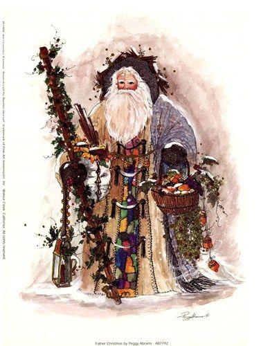 Father Christmas Art Print By Peggy Abrams Christmas