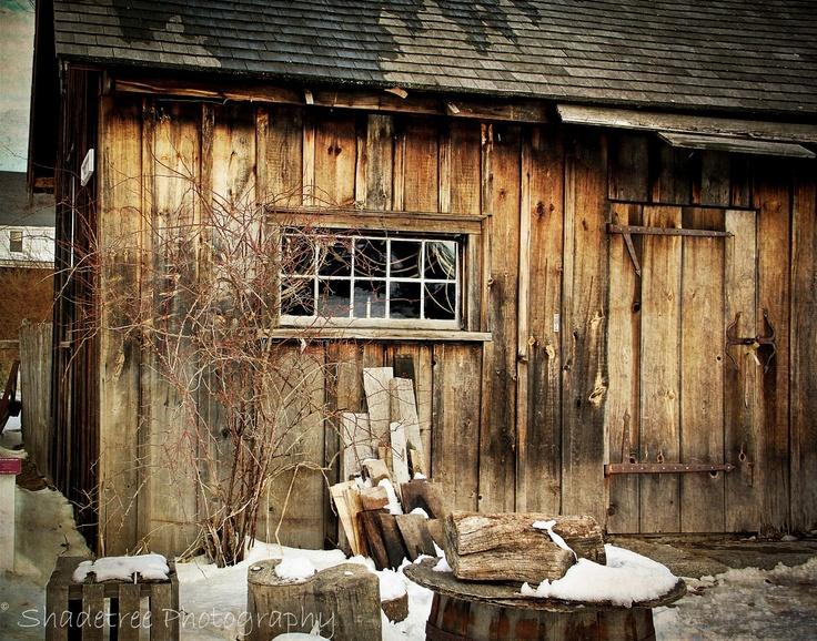 Rustic Shed Barn In Winter Man Styles Pinterest