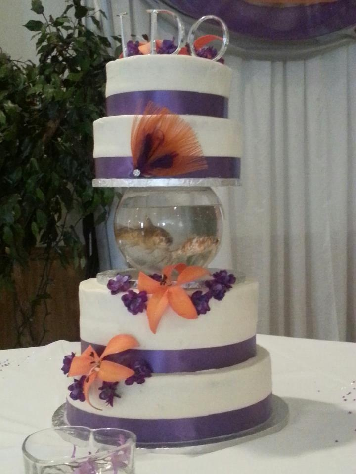 Fish Bowl Wedding Cake Covered In Buttercream Cakes
