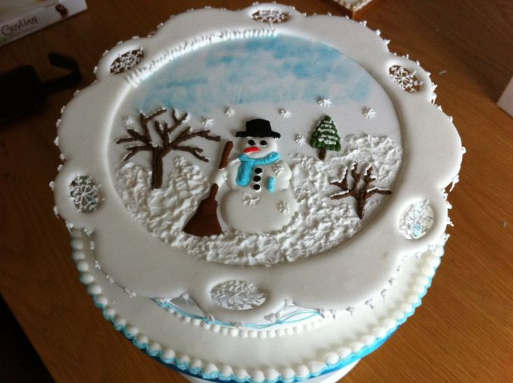3702 Best Images About ChristmasWinter Cakes On Pinterest