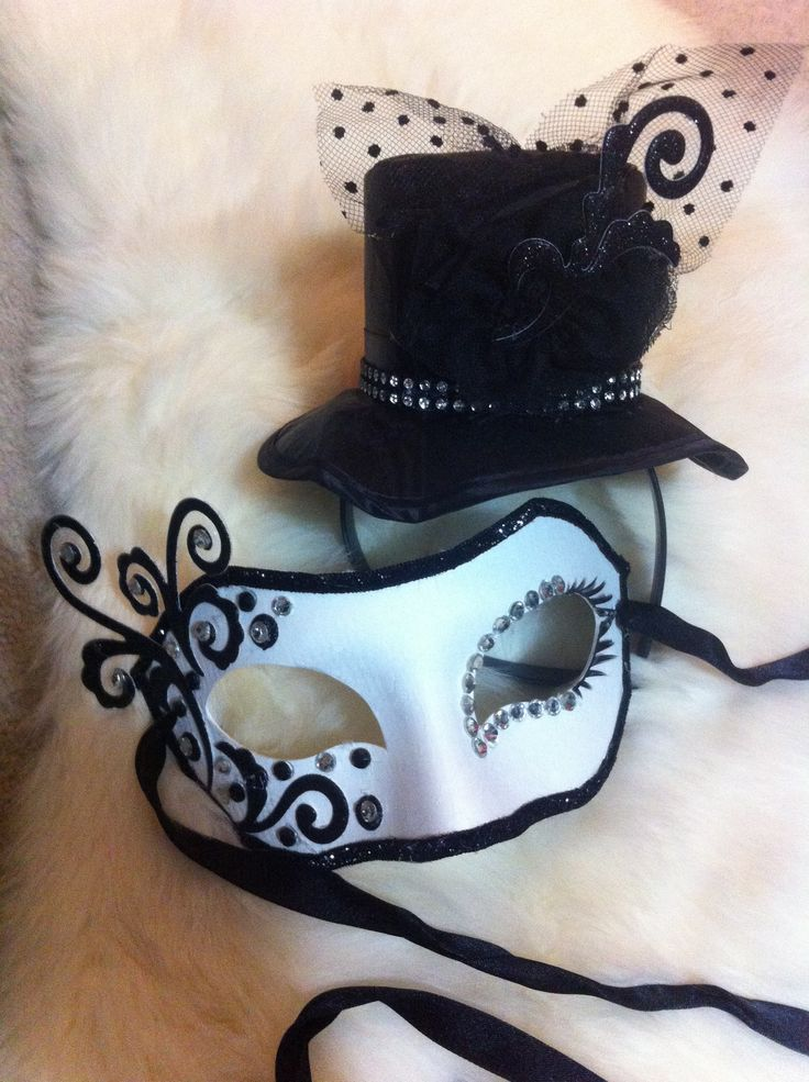 DIY Masquerade Mask and Chapeau Homemade by Korie