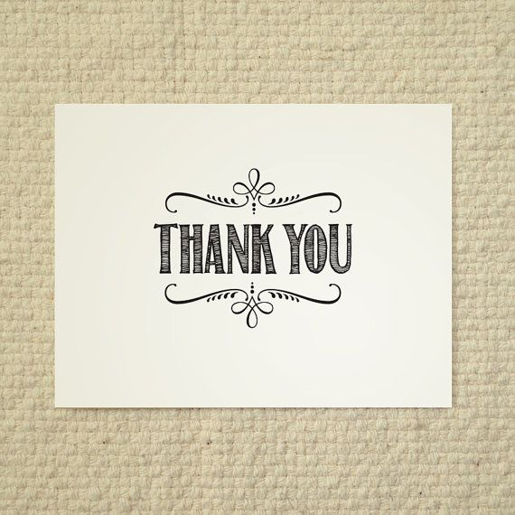 DIY Thank You Card  Handlet