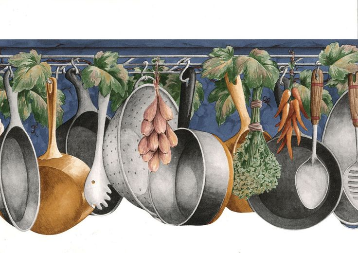 Pots Pans Spoon Rack Navy Blue