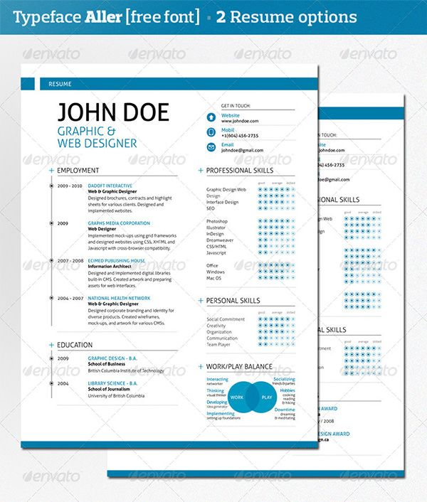 resume templates resume and modern resume template on pinterest