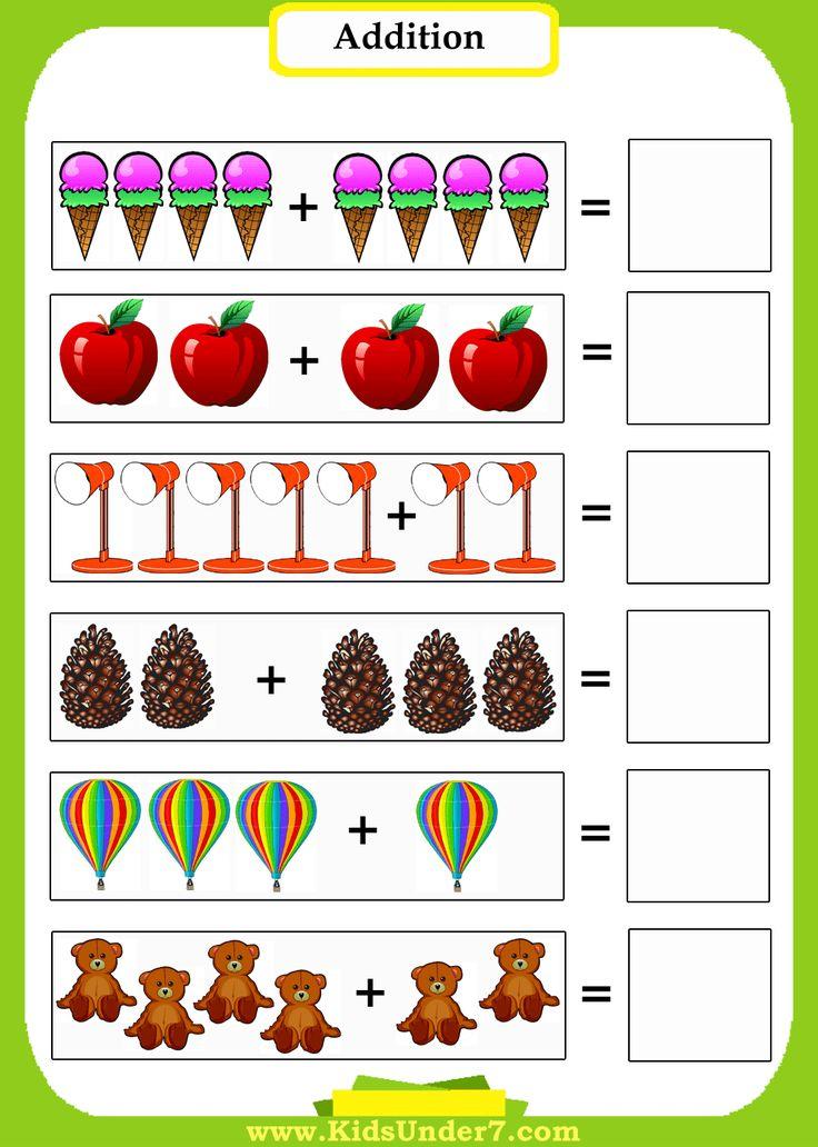 Preschool MathAddition Worksheets. Introduce preschoolers