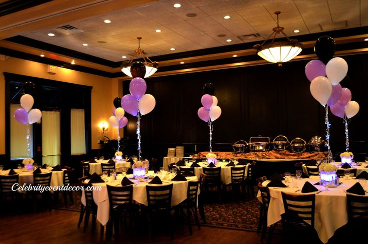 Lighted Sweet Sixteen Table Centerpieces Table