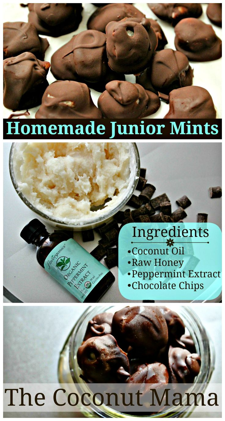 Homemade Junior Mints – Made with Healthy Ingredients! I would eat these all the time.  Have to give them a try.