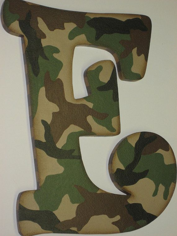 Camo Hunting Buck And Doe Theme Hand Painted Wall Letters