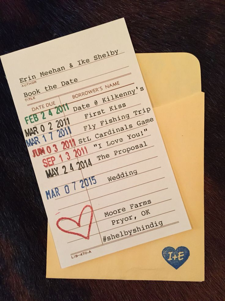 How Cute Is This Save The Date Card Library Style