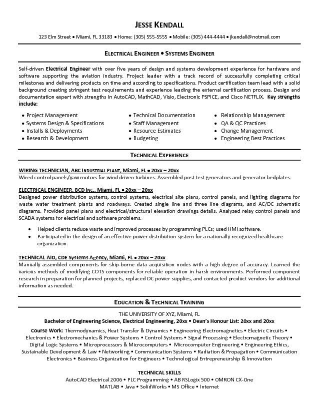 resume engineers and electrical engineering on pinterest