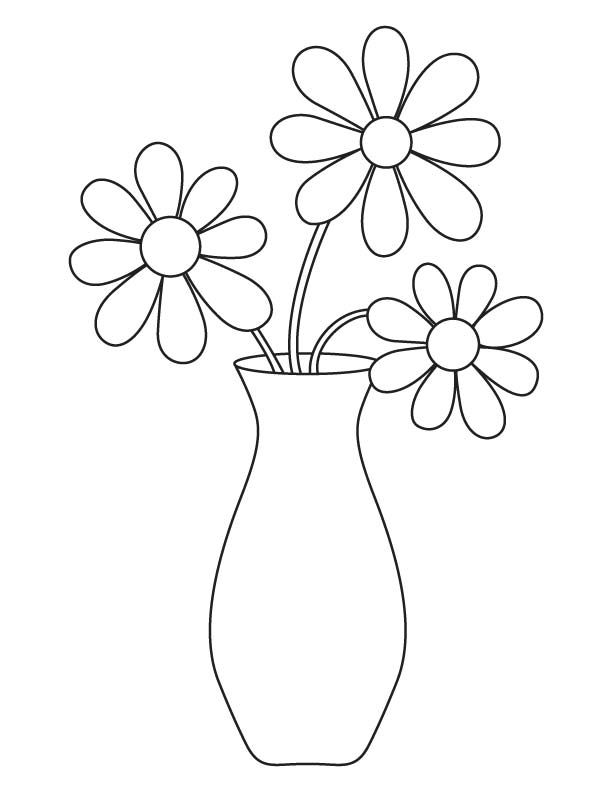 vase of flowers for beginning drawers - Google Search ... | colouring pages flowers in a vase