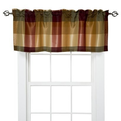 Target Home Plaid Valance Red 54x18 I Love Jan For