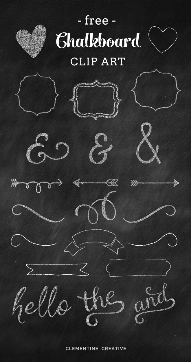 Free Chalkboard Clip Art Graphics Creative, Design and