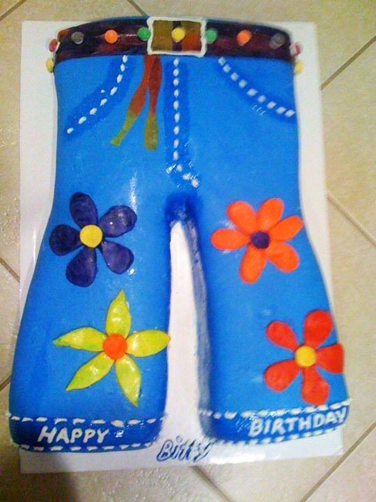 Hippie Flower Jeans Cake Made By Country Cowgirls