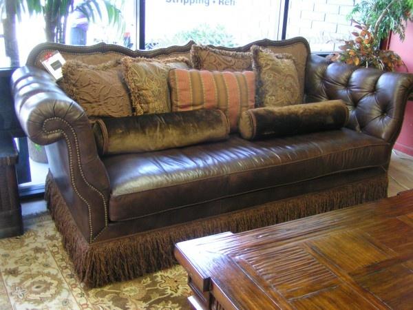 Robb Amp Stucky Tufted Leather Nailhead Sofa Sofas We Love