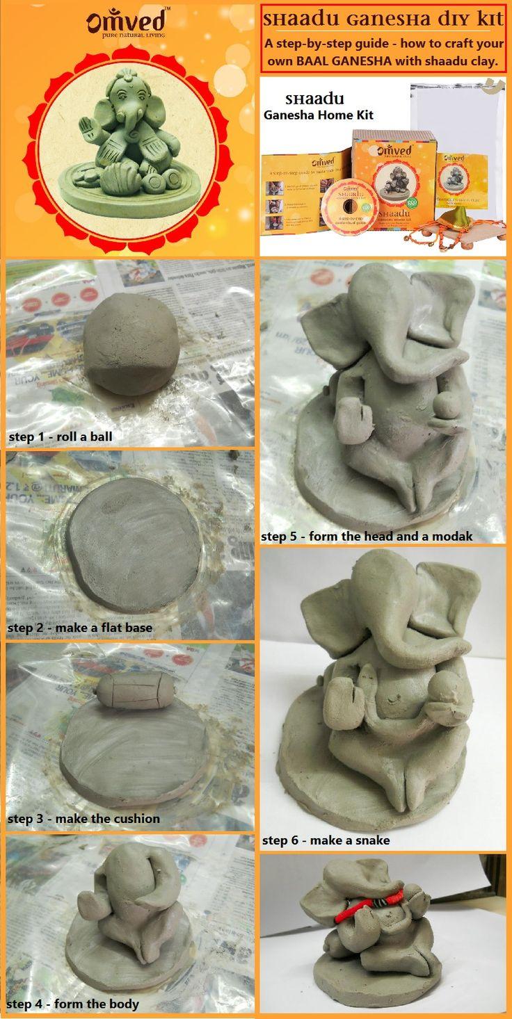 A stepbystep guide on making your own Baal Ganesha idol