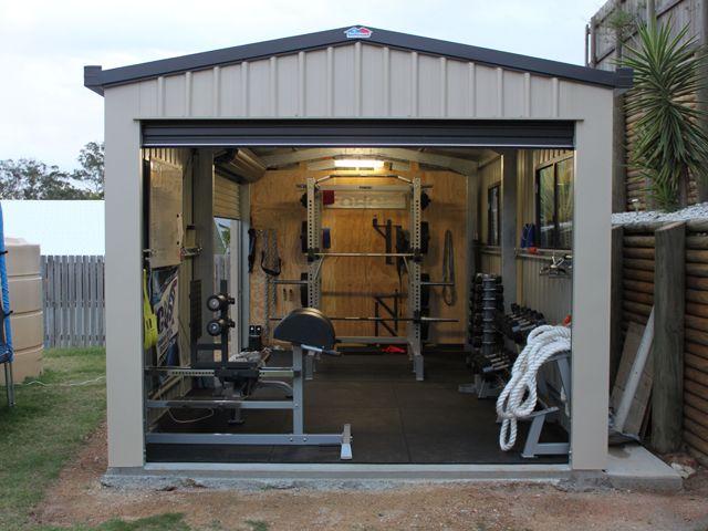 Home Gym Garage–like the idea of m