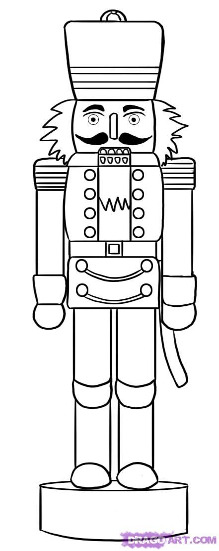line drawing of a pinterest nutcrackers line