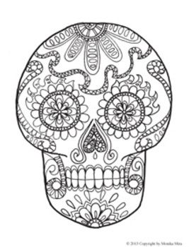 coloring holidays catrina coloring adult coloring sheets skeleton