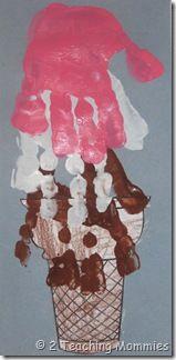 Hand print Ice Cream Cone: