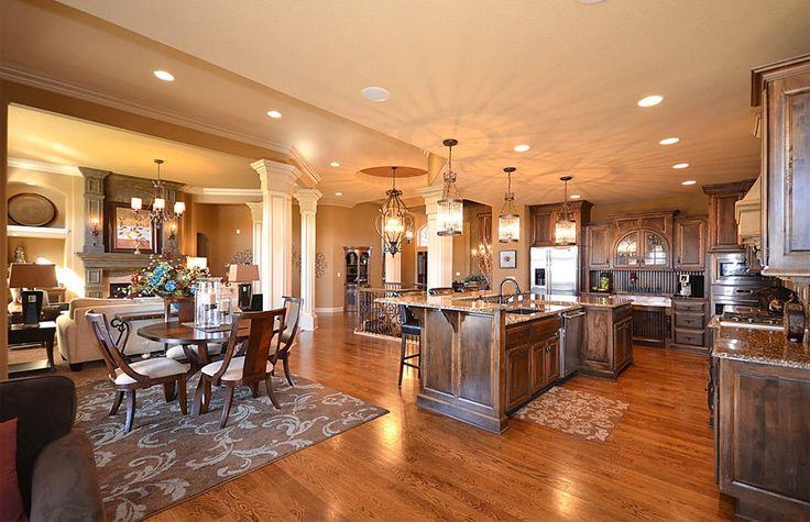 Open Floor Plan Between Kitchen To Living