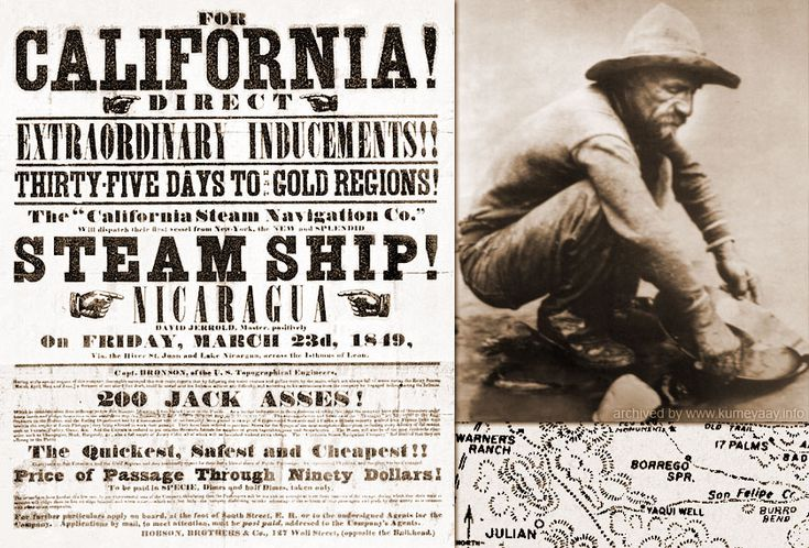1848 Gold was first discovered in California, in Sutter